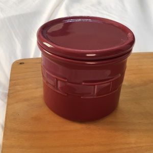 Longaberger Woven Traditions Crock with Lid